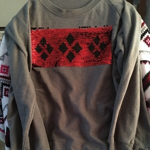 Sequin changing sweater